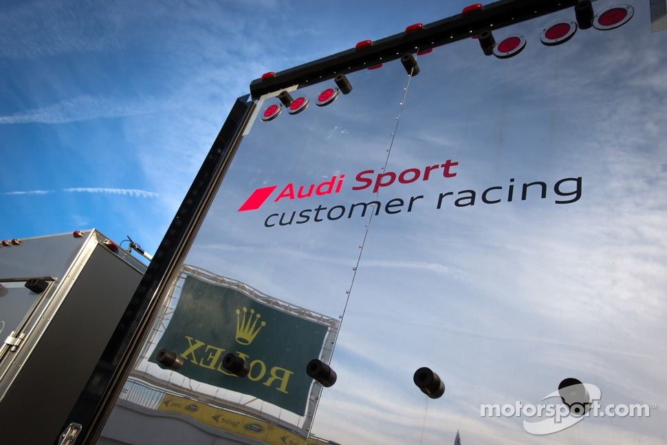 Audi Sport Customer Racing transporter