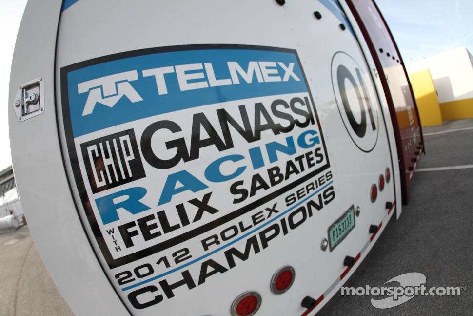 Chip Ganassi Racing with Felix Sabates hauler