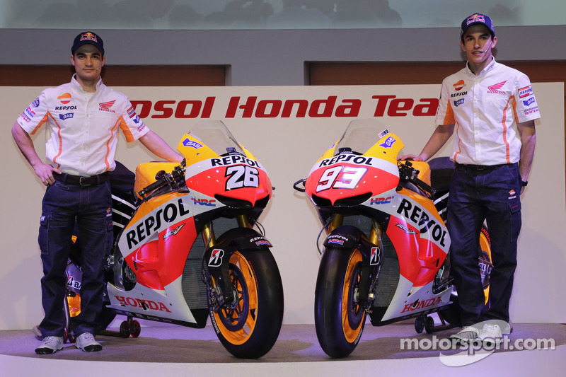 2013: Apresentação na equipe oficial da Honda na MotoGP
