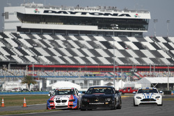#00 CKS Autosport Camaro GS.R: Ashley McCalmont, Bob Michaelian and #46 Fall-Line Motorsports BMW M3 Coupe: Mark Boden, Bryan Sellers