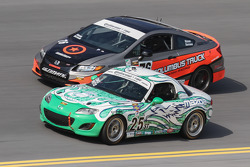 #25 Freedom Autosport Mazda MX-5: Tom Long, Derek Whitis and #76 Compass360 Racing Honda Civic SI: Adam Burrows, Ray Mason