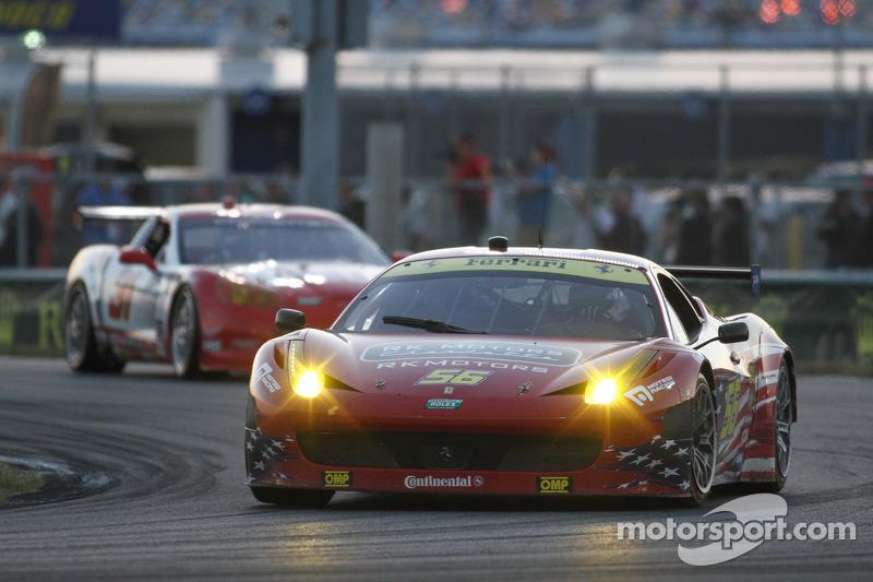#55 AF - Waltrip Ferrari 458: Rui Aguas, Clint Bowyer, Robert Kauffman, Michael Waltrip