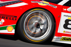 Red disk brake on the #8 Ferrari of Fort Lauderdale Ferrari 458