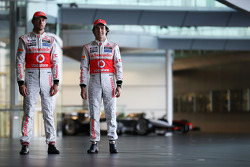 Jenson Button, McLaren with Sergio Perez, McLaren