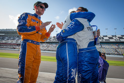 Race winners Charlie Kimball, Memo Rojas and Scott Pruett celebrate
