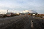 Construction continues at the Sochi F1 track
