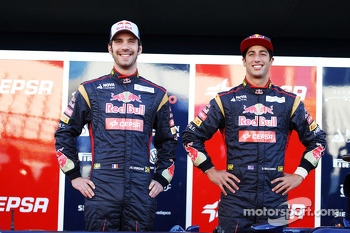 Jean-Eric Vergne, Scuderia Toro Rosso and Daniel Ricciardo, Scuderia Toro Rosso