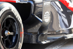 Sauber C32 sidepod detail