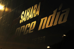 Sahara Force India F1 Team logo on a truck