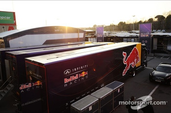 Red Bull Racing truck in the paddock