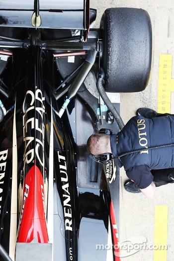 Lotus F1 E21 engine cover detail