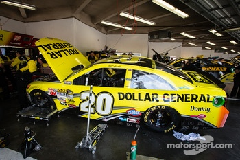 Car of Matt Kenseth, Joe Gibbs Racing Toyota at technical inspection