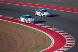 #18 Muehlner Motorsports America Porsche GT3: Kyle Marcelli, Dion von Moltke and #19 Muehlner Motorsports America Porsche GT3: Eduardo Costabal, Eliseo Salazar