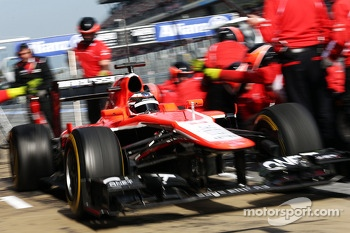 Jules Bianchi, Marussia F1 Team MR02 leaves the pits
