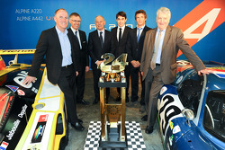 Carlos Tavares, operating chief of Renault, and Pierre Fillon, president of the ACO, Philippe Signault, Pierre Ragues and Nelson Panciatici