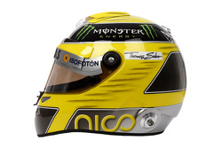 The helmet of Nico Rosberg, Mercedes AMG F1