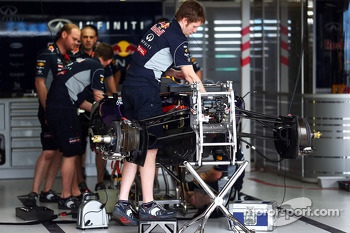 Red Bull Racing RB9 is prepared