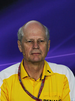 F1: Jean-Michel Jalinier, Renault President in the FIA Press Conference