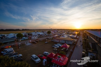 Sunset on Sebring paddock