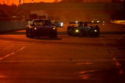 #30 NGT Motorsport Porsche 911 GT3 Cup: Henrique Cisneros, Marco Seefried, Sean Edwards, #01 Extreme Speed Motorsports HPD ARX-03b HPD: Scott Sharp, Guy Cosmo, David Brabham