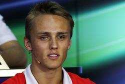 Max Chilton, Marussia F1 Team in the FIA Press Conference