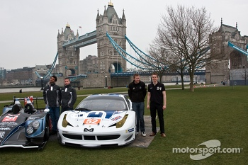 From left: Nick Leventis, Danny Watts, John Martin and Alex Brundle