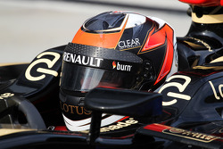 Kimi Raikkonen, Lotus F1 E21 in parc ferme