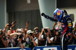 Race winner Sebastian Vettel, Red Bull Racing celebrates in parc ferme