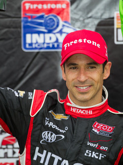 Victory circle: second place Helio Castroneves, Team Penske Chevrolet