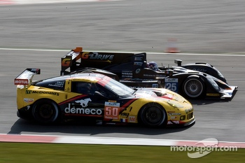 #50 Larbre Competition Chevrolet Corvette C6 ZR1: Patrick Bournehauser, Julien Canal, Fernando Rees #25 ADR-Delta Oreca 03 Nissan: Tor Graves, Antonio Pizzonia, James Walker