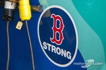 Ricky Stenhouse Jr., Roush Fenway Racing Ford honors victims of Boston Marathon bombings