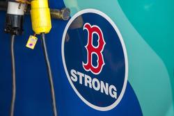 Ricky Stenhouse Jr., Roush Fenway Racing Ford honors victims of Boston Marathon bombings
