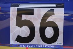 Martin Truex Jr., Michael Waltrip Racing Toyota honors those killed in the Boston Marathon bombing