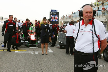 John Booth, Marussia F1 Team Team Principal on the grid
