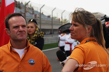 Rubens Barrichello, Globo TV Presenter on the grid