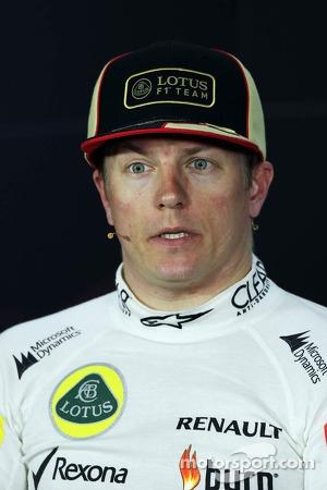 Second placed Kimi Raikkonen, Lotus F1 Team in the FIA Press Conference