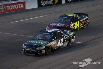 Juan Pablo Montoya and Jeff Gordon
