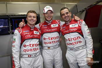 Polesitters Marcel Fssler, Andre Lotterer and Benoit Trluyer