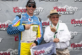 Polesitter Travis Pastrana with team owner Jack Roush