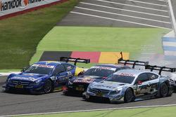 Gary Paffett, Mercedes AMG DTM-Team HWA DTM Mercedes AMG C-Coupé, Mattias Ekström, Audi Sport Team Abt Sportsline Audi RS 5 DTM, Christian Vietoris, Mercedes AMG DTM-Team HWA DTM Mercedes AMG C-Coupé
