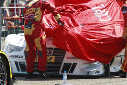 The Car of Adrien Tambay, Audi Sport Team Abt Audi RS 5 DTM after fire in Parc Ferme