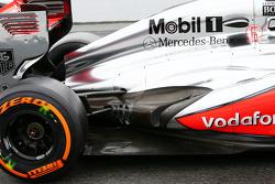 Sergio Perez, McLaren exhaust detail