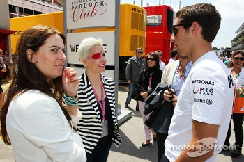 Maria de Villota, with Daniel Juncadella, Mercedes DTM Driver (Right)