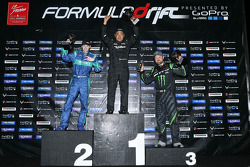 Podium: winner Daigo Saito, second place Darren McNamara, third place Vaughn Gittin Jr.