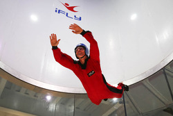 Craig Lowndes flies at the iFly Center
