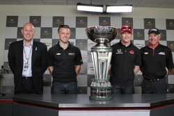 Ed Carpenter, Rick Mears and Scott Dixon