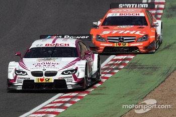 Andy Priaulx, BMW Team RMG BMW M3 DTM and Robert Wickens, HWA, DTM Mercedes AMG C-Coupe