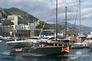 Red Bull Boat in the harbour