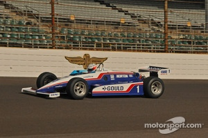 Chris Dyson in a vintage Indy racer