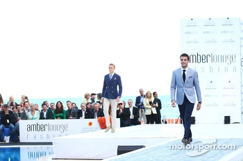 Jules Bianchi, Marussia F1 Team and mcph at the Amber Lounge Fashion Show
